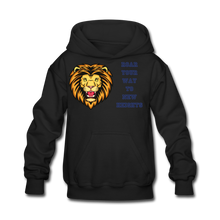 Load image into Gallery viewer, PBF Lion Kids' Hoodie - black