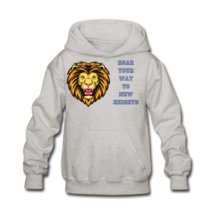 PBF Lion Kids' Hoodie - heather gray