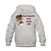 Load image into Gallery viewer, PBF Run Kids' Hoodie - heather gray