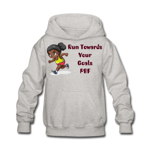 PBF Run Kids' Hoodie - heather gray