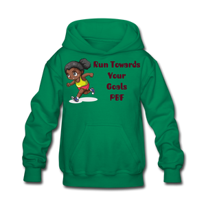 PBF Run Kids' Hoodie - kelly green