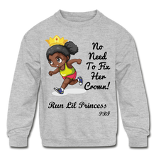 Load image into Gallery viewer, PBF Run Kids' Crewneck Sweatshirt - heather gray