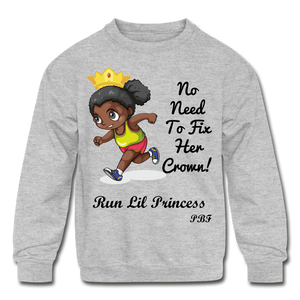 PBF Run Kids' Crewneck Sweatshirt - heather gray