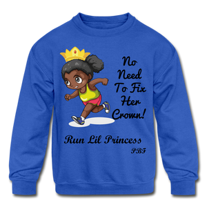 PBF Run Kids' Crewneck Sweatshirt - royal blue