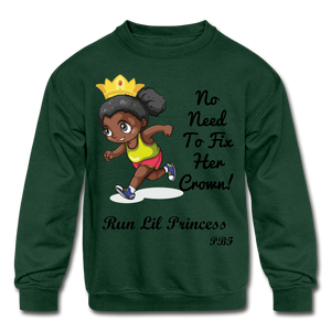 PBF Run Kids' Crewneck Sweatshirt - forest green