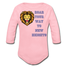 Load image into Gallery viewer, PBF Lion Organic Long Sleeve Baby Bodysuit - light pink