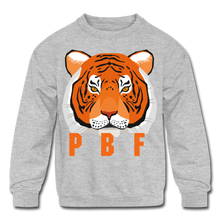Load image into Gallery viewer, PaperboyFly Tiger Long Sleeve Baby Bodysuit - heather gray
