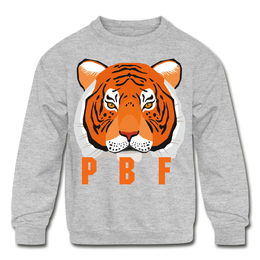 PaperboyFly Tiger Long Sleeve Baby Bodysuit - heather gray