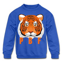 Load image into Gallery viewer, PaperboyFly Tiger Long Sleeve Baby Bodysuit - royal blue