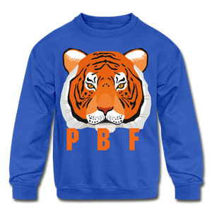 PaperboyFly Tiger Long Sleeve Baby Bodysuit - royal blue