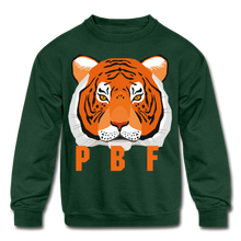 Load image into Gallery viewer, PaperboyFly Tiger Long Sleeve Baby Bodysuit - forest green