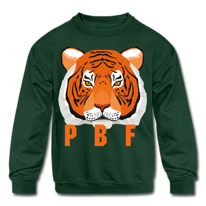 PaperboyFly Tiger Long Sleeve Baby Bodysuit - forest green