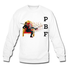 Load image into Gallery viewer, PBF Mens Crewneck Sweatshirt - white