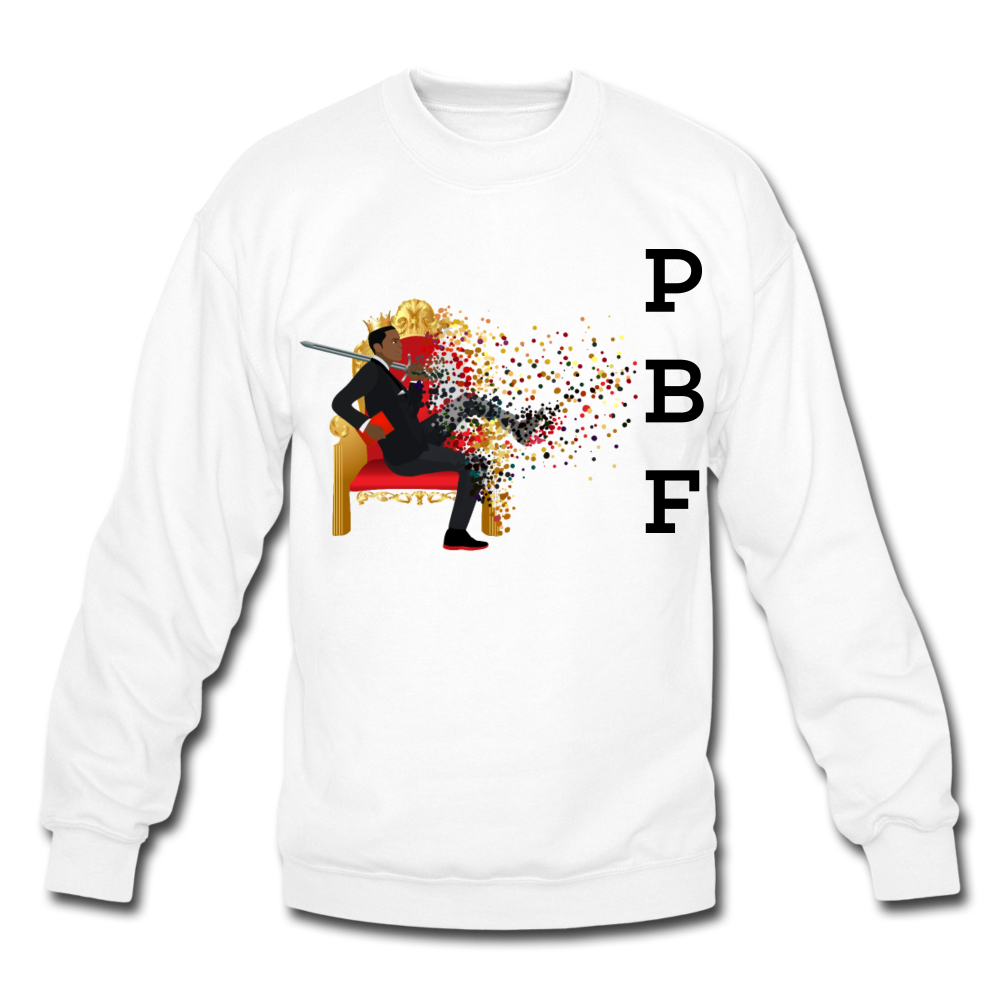 PBF Mens Crewneck Sweatshirt - white