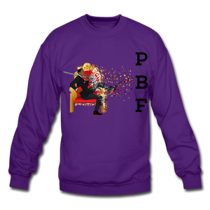 PBF Mens Crewneck Sweatshirt - purple