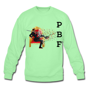 PBF Mens Crewneck Sweatshirt - lime