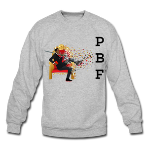 PBF Mens Crewneck Sweatshirt - heather gray