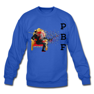 PBF Mens Crewneck Sweatshirt - royal blue