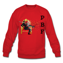 Load image into Gallery viewer, PBF Mens Crewneck Sweatshirt - red