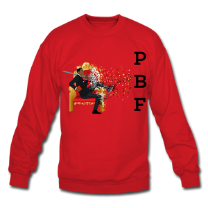 PBF Mens Crewneck Sweatshirt - red