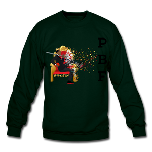 PBF Mens Crewneck Sweatshirt - forest green