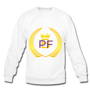 PBF Men's Unisex Crewneck Sweatshirt - white