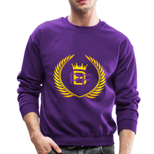 PBF Men's Unisex Crewneck Sweatshirt - purple