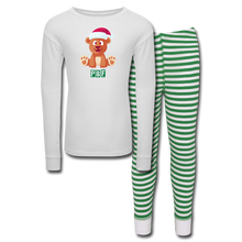 Load image into Gallery viewer, PBF Kids' Pajama Set - white/green stripe