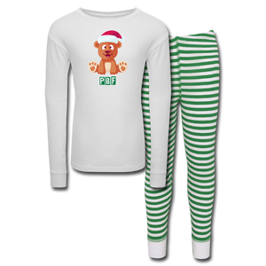 PBF Kids' Pajama Set - white/green stripe
