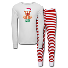 Load image into Gallery viewer, PBF Kids' Pajama Set - white/red stripe