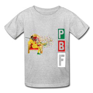 PBF Youth Tagless T-Shirt - heather gray