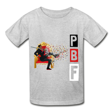 Load image into Gallery viewer, PBF Youth Tagless T-Shirt - heather gray