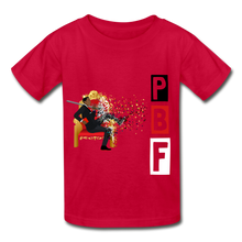 Load image into Gallery viewer, PBF Youth Tagless T-Shirt - red