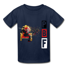 Load image into Gallery viewer, PBF Youth Tagless T-Shirt - navy