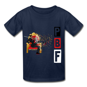 PBF Youth Tagless T-Shirt - navy