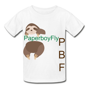 PBF Sloth Youth Tagless T-Shirt - white