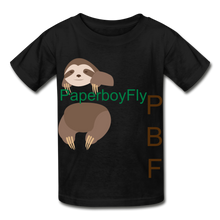 Load image into Gallery viewer, PBF Sloth Youth Tagless T-Shirt - black