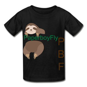 PBF Sloth Youth Tagless T-Shirt - black