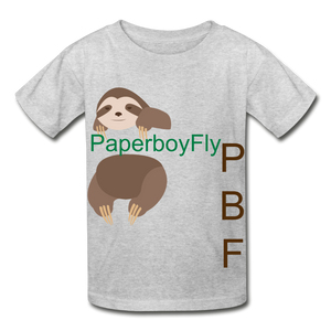 PBF Sloth Youth Tagless T-Shirt - heather gray