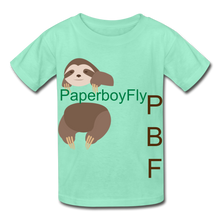 Load image into Gallery viewer, PBF Sloth Youth Tagless T-Shirt - deep mint