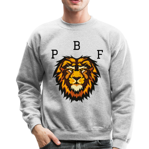 PBF Lion Crewneck Sweatshirt - heather gray