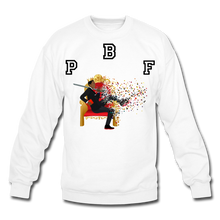 Load image into Gallery viewer, PBF Shattered Crewneck Sweatshirt - white