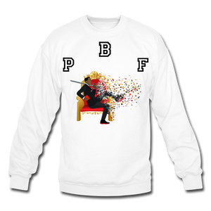 PBF Shattered Crewneck Sweatshirt - white