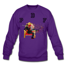 Load image into Gallery viewer, PBF Shattered Crewneck Sweatshirt - purple
