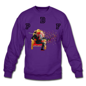 PBF Shattered Crewneck Sweatshirt - purple