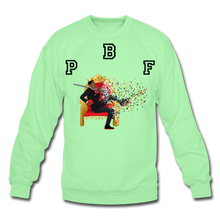 Load image into Gallery viewer, PBF Shattered Crewneck Sweatshirt - lime