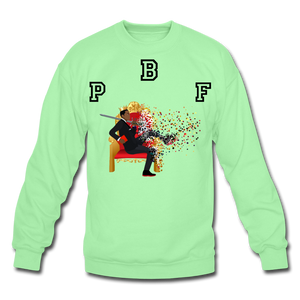 PBF Shattered Crewneck Sweatshirt - lime