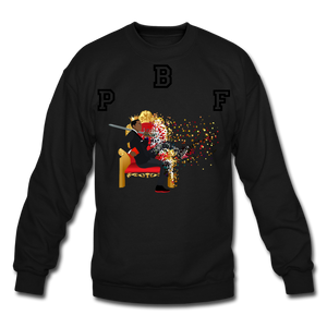 PBF Shattered Crewneck Sweatshirt - black