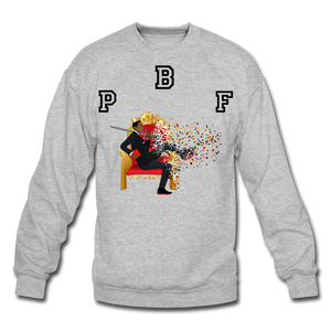 PBF Shattered Crewneck Sweatshirt - heather gray