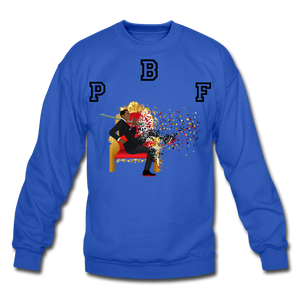 PBF Shattered Crewneck Sweatshirt - royal blue